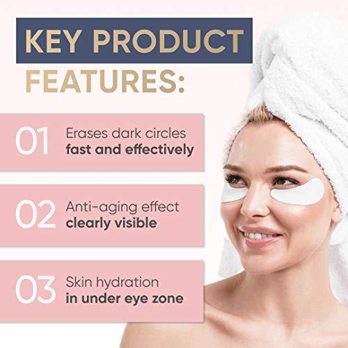 Collagen Eye Patches – Moisturizing Under Eye Pads – Anti Puffines & Dark Circles Spa Treatment – Best Hydrogel Eye Moisturizer for Women & Men – Gel Patch for Dry Skin Under Eye Zone (2 pack)