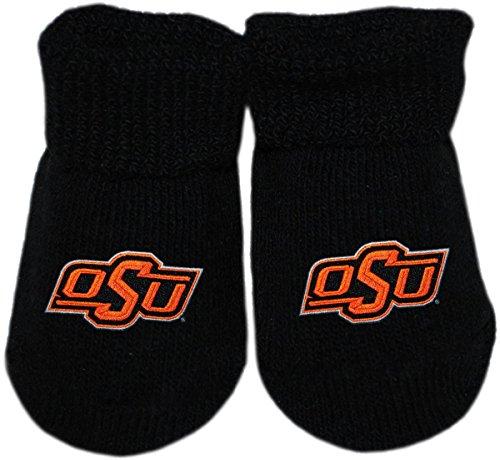 Oklahoma State University Cowboys Newborn Baby Bootie Sock, Black, Newborn Oklahoma State University Baby Clothes