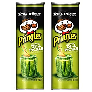 Pringles Screamin' Dill Pickle Potato Crisps, 5.5 oz, 2 Pack