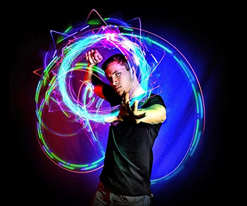 EmazingLights 4-LED Spinning Orbit: Orbite-X3 - Lightshow Orbital Rave Light Toy (Clear Casing)