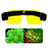 uv flashlight filter - Tonelife Fluoro Diving Flashlight Kit Yellow Fluorescence Filter Underwater Fluoro Mask Diving Filter Nightsea Mask Filter Yellow Barrier Filter for Underwater Dive Video Photography