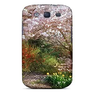 Protective Tpu Case With Fashion Design For Galaxy S3 (beautiful Blooming Cherries)