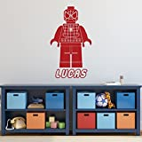 Lego Spiderman - Avengers - Superhero Personalized Wall Decals for Kids Boys Rooms, Playroom or Game Room Decor.