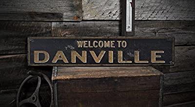 Welcome to DANVILLE, KENTUCKY - Rustic Hand-Made Vintage US City Wooden Sign