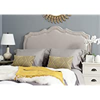 Safavieh Headboard Collection Skyler Headboard, Full, Taupe