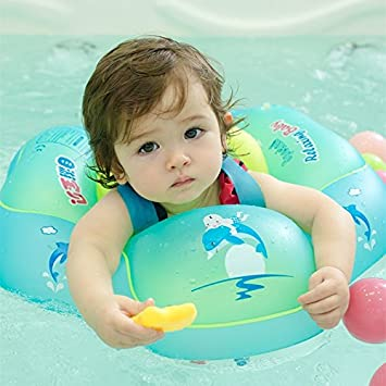 Kyerivs Inflatable Baby Swimming Ring & Baby Float for Swimming Pool, Pool Toys, 2-6 Years Old (XL): Amazon.es: Juguetes y juegos