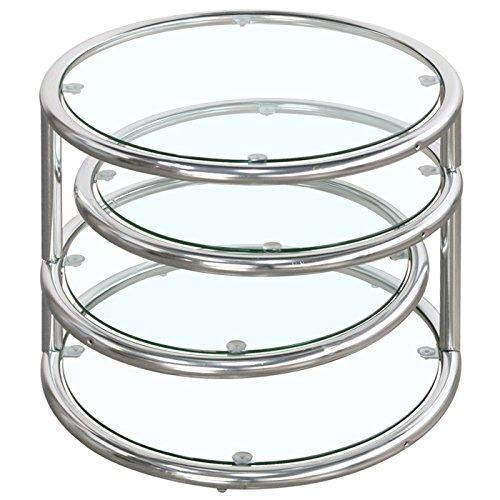 サークルテーブル (4段) スイング ガラス テーブル B00MHJB0WE   4段