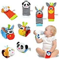 St. Lun Sozzy Baby Rattle Toys Hand Wrist Rattle & Foot Finder,Variation:1#