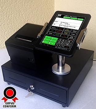 """Móvil Sistema de caja registradora para GASTRONOMÍA: 7"""" Operador terminal, Impresora de recibos"""