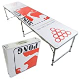 NEW BEER PONG TABLE 8' ALUMINUM PORTABLE ADJUSTABLE FOLDING INDOOR OUTDOOR TAILGATE DRINKING PARTY GAME #4 by PONGBUDDY