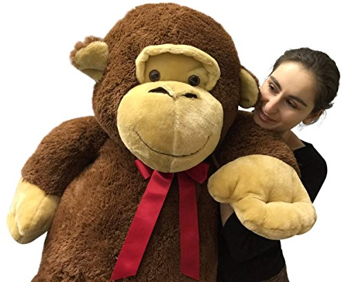 giant stuffed monkey 5 feet tall soft brown large plush animal 60 inches new buy online in uae. Black Bedroom Furniture Sets. Home Design Ideas