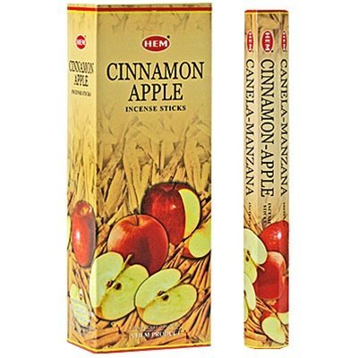Cinnamon Apple - Box of Six 20 Stick Tubes - HEM Incense
