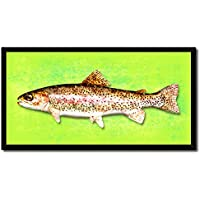 Rainbow Trout Fish Art 14139 Canvas Print Picture Frame...