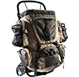 "40L External Frame Pack Lightweight aluminum frame won't weigh you down, KHAKI (Bag dimensions: 20.5"" x 14.75"")"