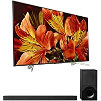 Sony XBR75X850F 75 4K HDR10 HLG Triluminos UHD LCD Android TV with Google Home and Amazon Alexa Compatibility 3840x2160 & Sony HTX9000F 2.1Ch 4K HDR Compatible Dolby Atmos Soundbar with Bluetooth