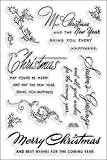 Stampendous Rubber Perfectly Clear Stamps 4-inch x 6-inch Sheet-Christmas Wishes