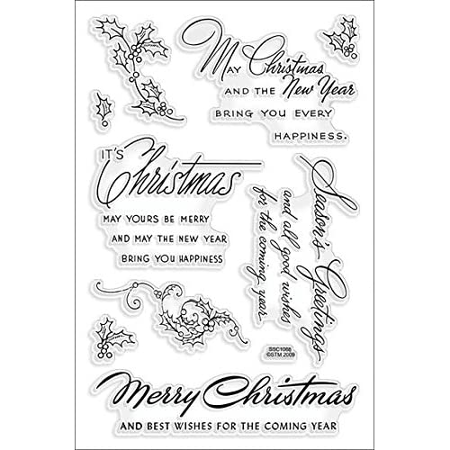 Christmas Rubber Stamps For Card Making: Amazon.co.uk