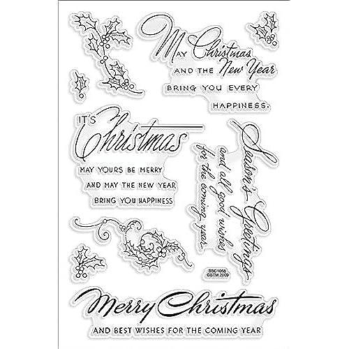 Christmas Sentiments Stamps: Amazon.com