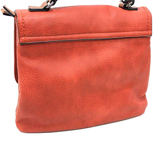 Lock A Piccola Similpelle Rosso Mano Donna Borsa Cartella In Linea Lookat Y224 OwBCxzq