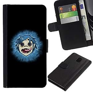 LASTONE PHONE CASE / Lujo Billetera de Cuero Caso del tirón Titular de la tarjeta Flip Carcasa Funda para Samsung Galaxy Note 3 III N9000 N9002 N9005 / Gorillas