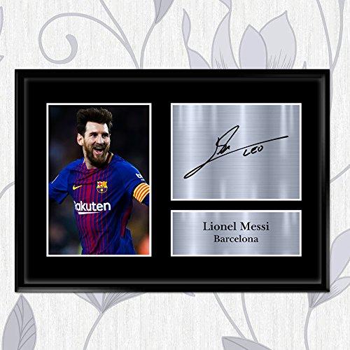 Inspiriert Wände Lionel Messi Signed Autograph Barcelona Foto Display Gedruckt–tolle Geschenkidee A2A3A4A5, A2 (594 x 420 mm) INSPIRED WALLS
