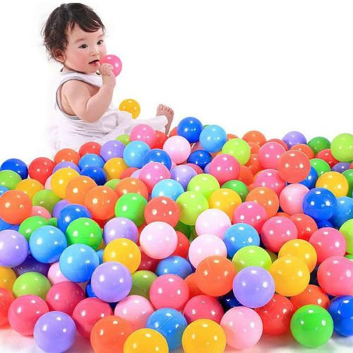 50 pcs Swim Safty Secure Baby Kid Pit Toys Colorful Soft Plastic Ocean Ball