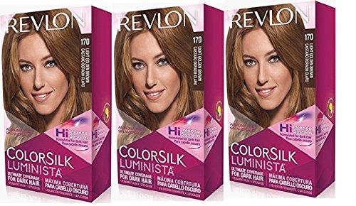 Revlon Colorsilk Luminista Haircolor, Light Golden Brown, 3 Count
