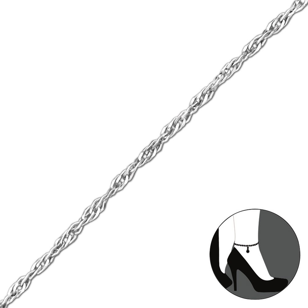 Atik Jewelry Silver Twisted Anklet