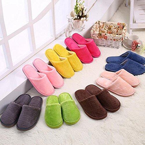 ANDAY Women Men Spring Winter Warm Cotton Slippers Indoor Home Footwear Slippers Caffee TgsdpMoe