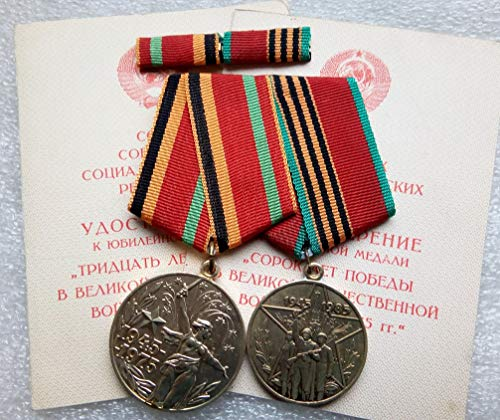 Set 2 & Pin Soviet Army USSR Russian Medals Veteran WW II Red Army RKKA Communist Bolshevik Period Cold war era Militaria Jewish history Veksler Sofiya
