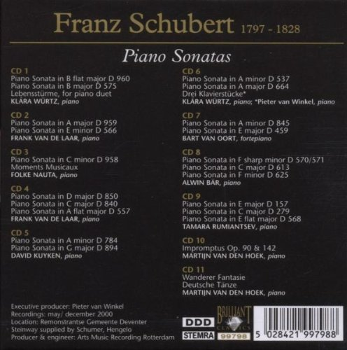 Schubert: Piano Sonatas (Complete) / Impromptus / Moments Musicaux