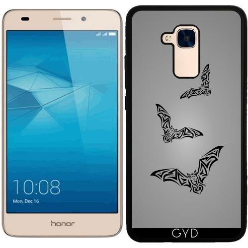 Funda de silicona para Huawei Honor 5C - Tribus Murciélago Negro Para Hombre Gris by Nina Baydur