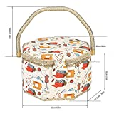 Needle Thread Basket Fabric Craft Sewing Tool Household Storage Box with Handle Bag