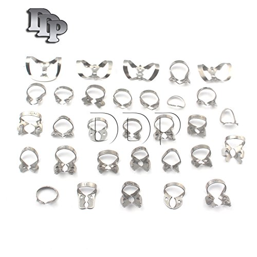 (30 ENDODONTIC RUBBER DAM CLAMP DENTAL ( 30 DIFFERENT KINDS NEW))