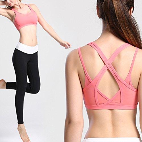 Zhhlaixing Comfortable Design Women's Workout Yoga Bra Gym Deportes Bra Vest LWQ-0126 Pink