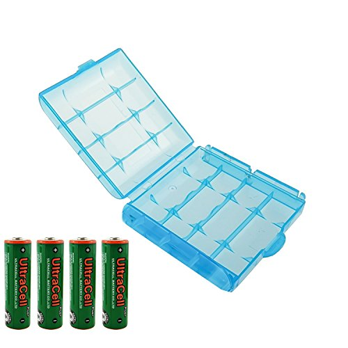 Battery Voltage Aa (UltraCell Plus NiZn 1.6v AA - 2800mWh High Voltage Rechargeable Batteries With Battery Storage Box (Combo for 4pcs AA + 1pcs Blue Battery Box))