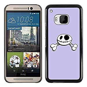 iKiki Tech / Estuche rígido - Funny Happy Skull Smiley - HTC One M9