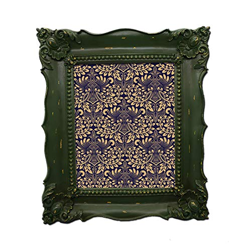 Simon's Shop 8x10 Picture Frame Baroque Picture Frames 8x10 Shabby Chic Photo Frames in Moss ()