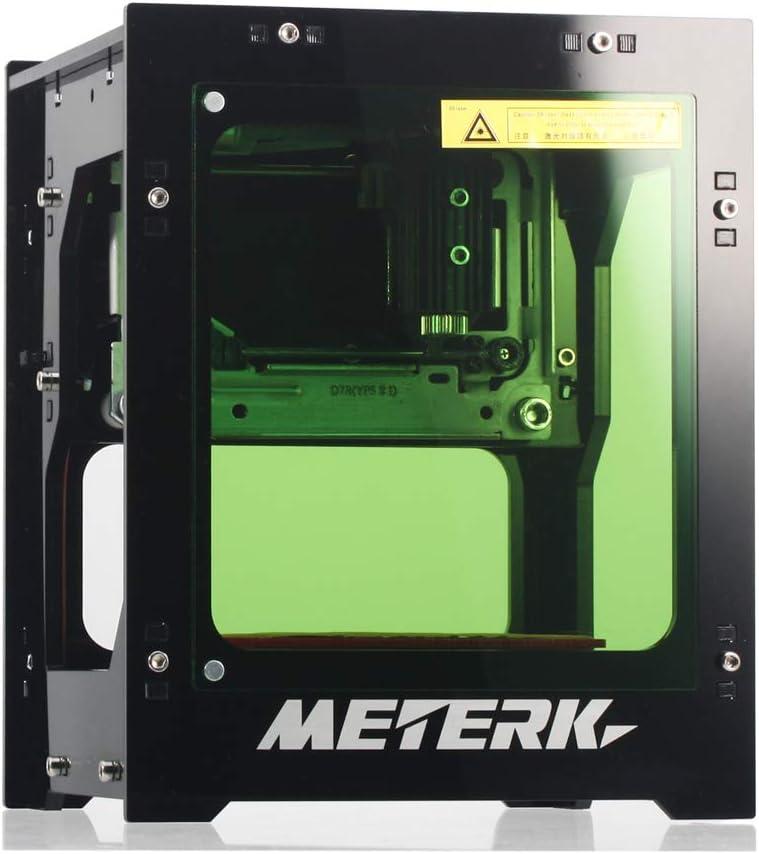 Meterk Laser Incisione Stampante 1500mW Portatile Casa Arte Artigianato Fai da te Mini Stampa Incisione USB Wireless 4.0 per IOS / Android / PC con Lega Shell Frame