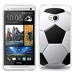 One Tough Shield ? Slim-Fit Hard Cover Case for HTC ONE - (Soccer)