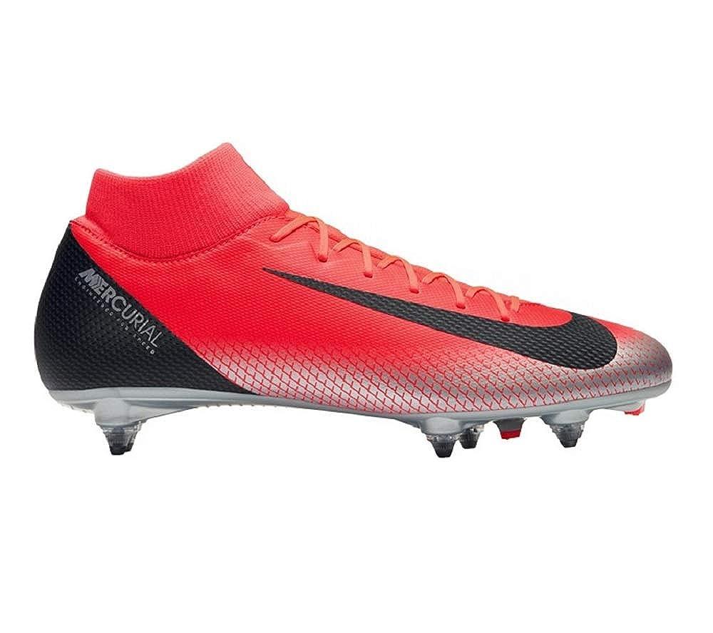 Mehrfarbig (Bright Crimson schwarz Chrome Dark grau 600) 44 EU Nike Unisex-Erwachsene Superfly 6 Academy Cr7 Sg Fußballschuhe
