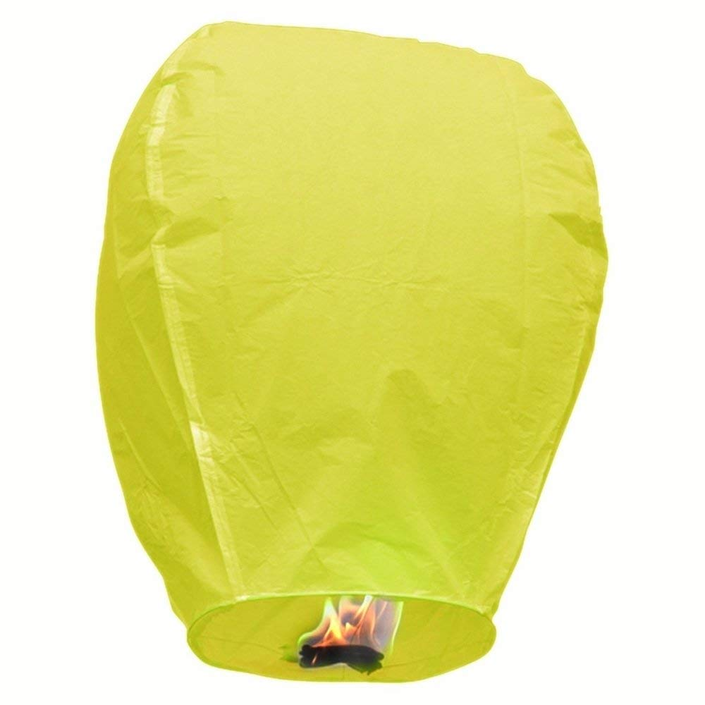 MISC Yello 10 Floating Lanterns to Release in Sky Chinese Flying Lighted Wish Candles Inflatable Air Biodegradable by MISC (Image #1)