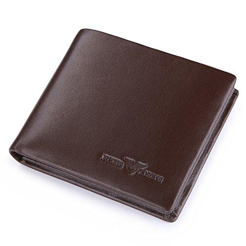 Window Card Case Portfolios, Extra Capacity Folding Leather Wallets Lock Rfid Smart-f 12x10cm Business (5x4inch) F
