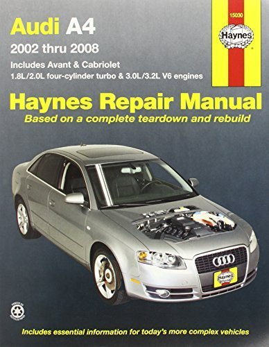 Audi A4: 2002 thru 2008 (Haynes Repair Manual) 1st edition by Haynes, Max (2011) Paperback