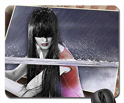 samurai girl 2 Mouse Pad, Mousepad (10.2 x 8.3 x 0.12 inches)
