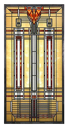 YTC Square FLW Bradley House Skylight in Colorful Arrow and Stripe Designs