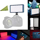 FalconEyes F7 12W RGB LED Mini Pocket On Camera Light with Honeycomb Grid and Softbox, Preset 18 Special-Effect Scenario Mode, Magnet Adsorbing Funtion