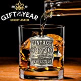 English Pewter Company Vintage Years 1970 50th Birthday or Anniversary Old Fashioned Whisky Rocks Glass Tumbler - Unique Gift Idea For Men [VIN003]