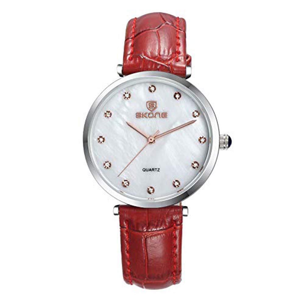 Hermosos Relojes Correa de Cuero Reloj de Cuarzo Reloj de ...