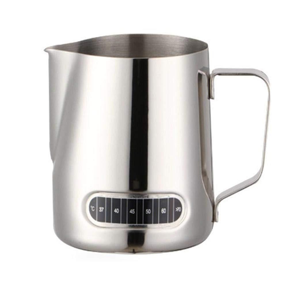 Sue Supply - Adhesivo de Acero Inoxidable para Jarra de Leche de 600 ML, para café, Leche, Leche, Taza de Leche condensada, café, café, Taza de café, ...